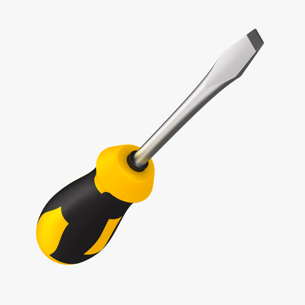 yellow hand screwdriver